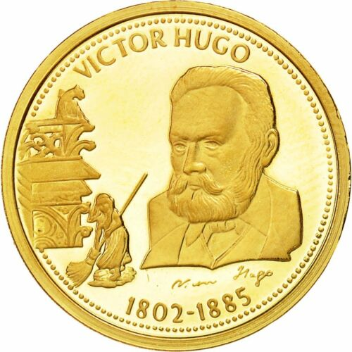 #491087 France, Medal, Victor Hugo, History, MS6570, Gold