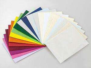 100 Briefumschläge DIN C6, Kuverts in verschiedenen Farben,Briefumschlag/ Kuvert
