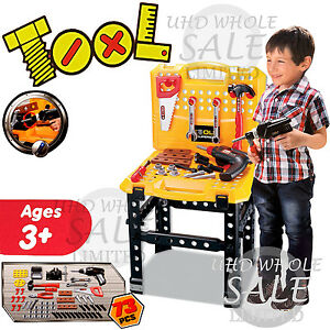 73pc Kids Childrens Tool Bench Play Set Work Shop Tools