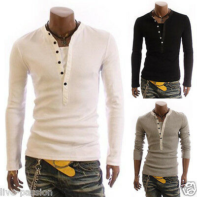 New Brilliant Mens Casual Formal Slim-Fit HS Jumper T-Shirt