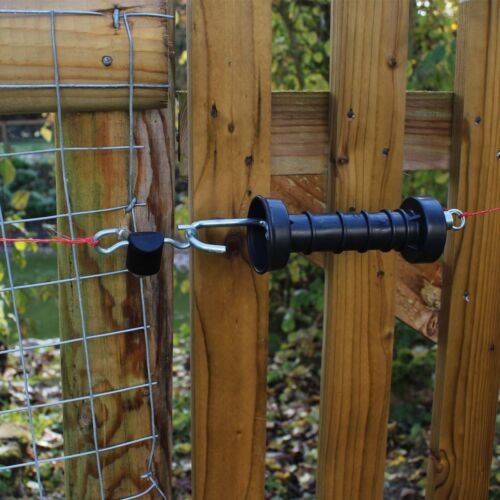 Fortis Electric Fence Gate Handle Insulators 3 PACK Double Hook Insulator
