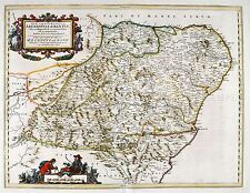 MAP ANTIQUE 1654 SCOTLAND BLAEU ABERDEENSHIRE LARGE REPLICA POSTER PRINT PAM0111