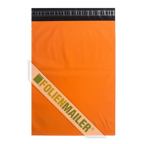 blickdicht knalliges Orange 30 x 40 cm Folienbeutel 100 Folienversandtaschen