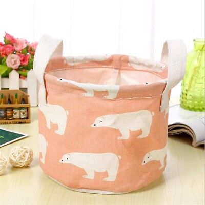 Storage Bin Closet Toy Box Container Organizer Fabric Basket Foldable 6 Colors