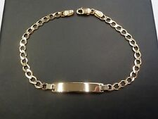 NEW 9ct Yellow Gold Childs ID Curb Bracelet 2.4 grams * Free Engraving *