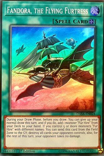 Yu-Gi-Oh DASA-EN024-1st - Super Rare FANDORA, THE FLYING FURTRESS NM