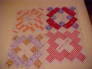 Six 1930s Album Or Signature Quilt Blocks Ebay