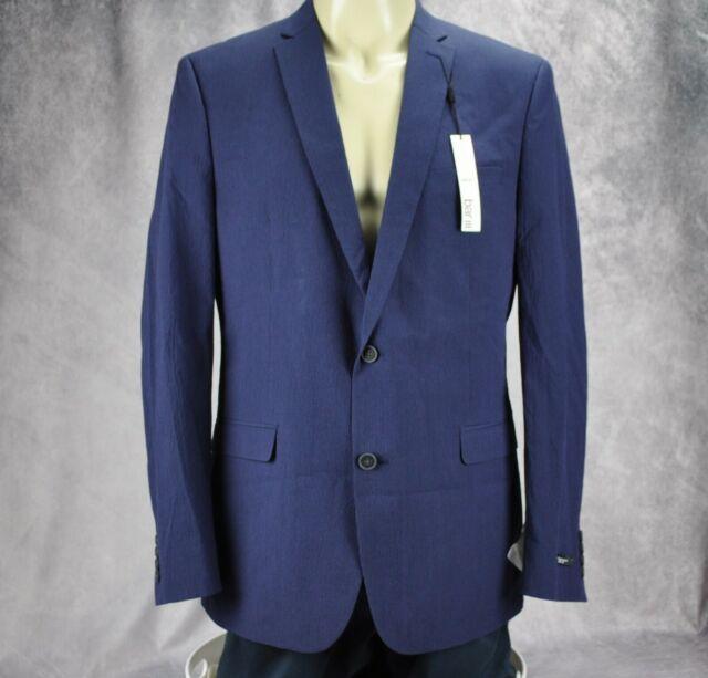 Bar III Mens Stretch Two Button Blazer Jacket