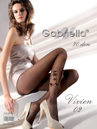 Available in Beige GABRIELLA Luxury Super Fine 20 Denier Patterned Tights