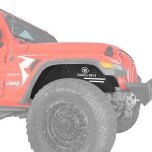 Front Inner Fender Liner Flares Textured Steel for Jeep Wrangler 18-20 JL / JLU
