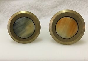 2 New Anthropologie Telescope Bronze Knob Drawer Pulls Set of 2