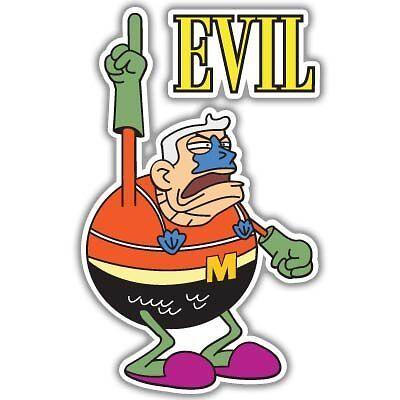 "Spongebob Mermaid Man Evil vynil car sticker 6/"" x 4/"""