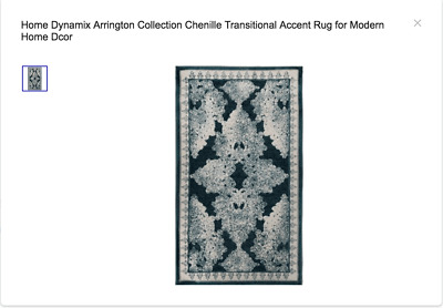 Home Dynamix Arrington Collection Chenille Transitional Accent Rug Ebay