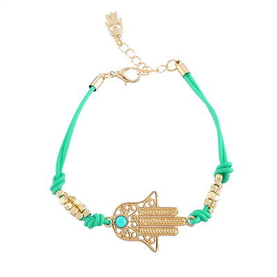 Light Green HAMSA BRACELET ~ ~ ~ ~ ~ Good Luck Against Evil Eye String Kaballah