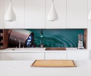 Aufkleber Küchenrückwand Lampe Wasser Folie Möbelfolie Küche ...