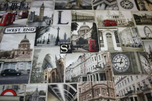 Baumwollstoff-Deko-Stoff-Digitaldruck-London-England-1m