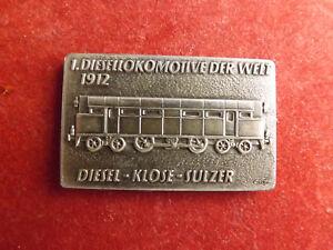 *selten!eisenbahn-silber Barren Ca.19g.(900) *klose-sulzer - 1 Diesellokomotive