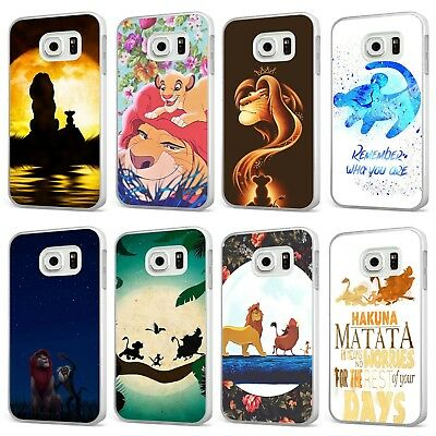 official photos d0dfb d711b The Lion King Disney Simba Pumba Scar WHITE PHONE CASE COVER for SAMSUNG  GALAXY | eBay
