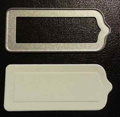 Sizzix Die Cutter & Embosser  SMALL RECTANGLE TAG fits Big Shot Cuttlebug