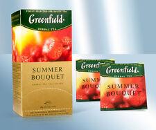 "4x 25x2g Greenfield Herbal-Tee mit Himbeere ""Summer bouquet"""