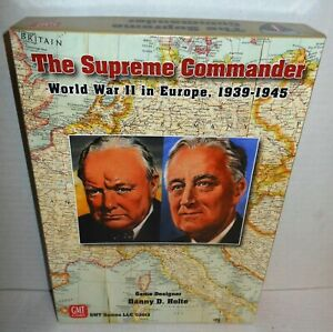 Boxed-WAR-GAME-The-Supreme-Commander-WW2-in-Europe-1939-1945-op-2013-w-Replace
