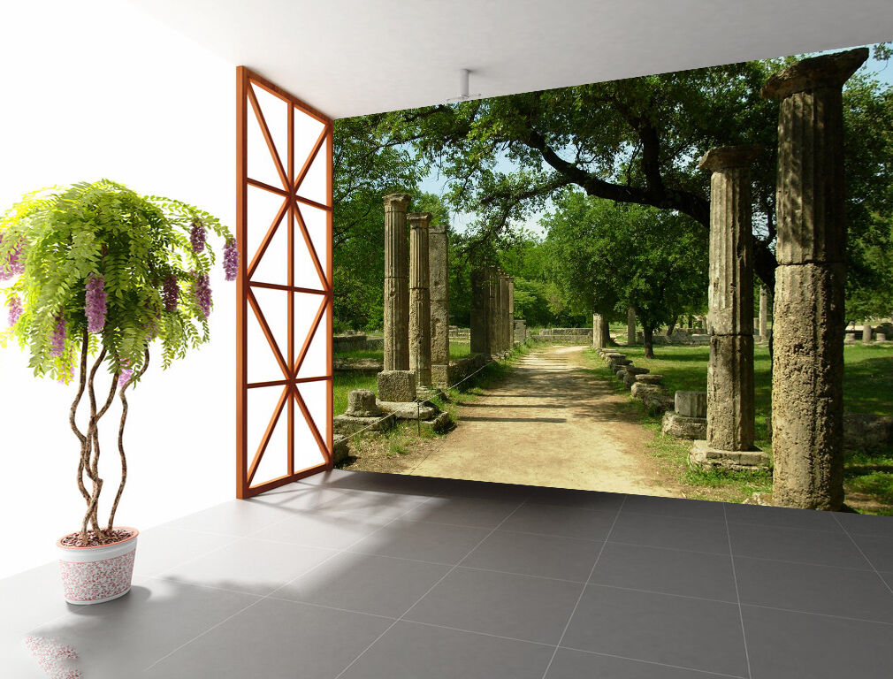3D Forest Path 834 Wallpaper Mural Paper Wall Print Wallpaper Murals UK
