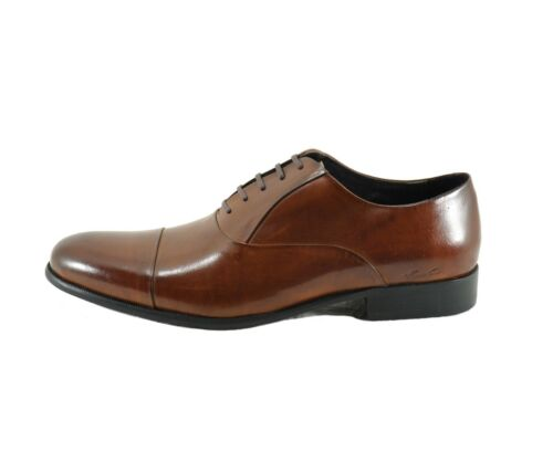 Men/'s Shoes Kenneth Cole New York Chief Council Leather Oxfords Cognac *New*