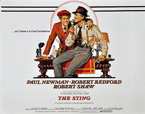 """THE STING""..Paul Newman Robert Redford.. Classic Movie ..."