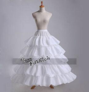 Engel Traum Reifrock Unterrock Weiße Braut Petticoat Brautkleid