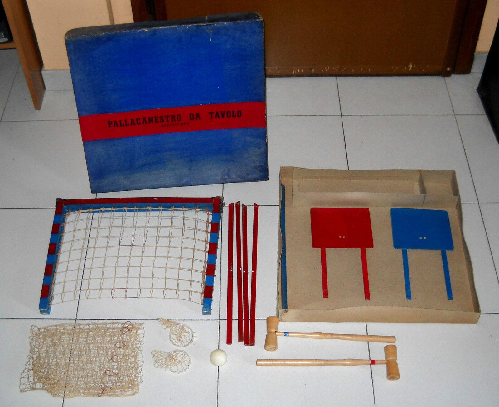 PtuttiACANESTRO DA TAVOLO  Brevettato Anni 50 in legno Basket  le migliori marche vendono a buon mercato