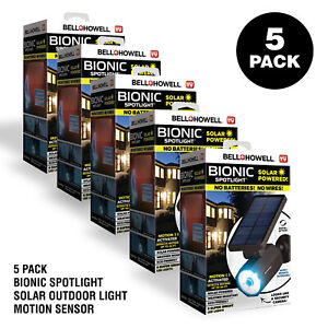 Bell + Howell Bionic Spotlight Solar Outdoor Light Wireless Motion Sensor 5 Pack