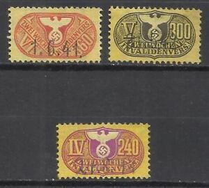 Q547B-SELLO PARA INVALIDOS 2ª GUERRA MUNDIAL GERMANY CRUZ GAMADA Y AGUILA Rhim