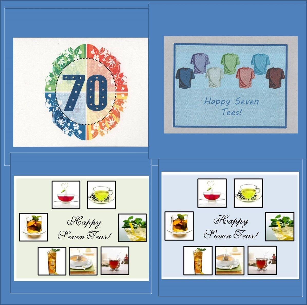 Handmade 70th Birthday Cards Milestone Card Free Shipping In Usa Ebay