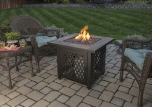 Details About Outdoor Fire Pit Patio Deck Garden Yard Propane Mosaic Table Heater Fireplace
