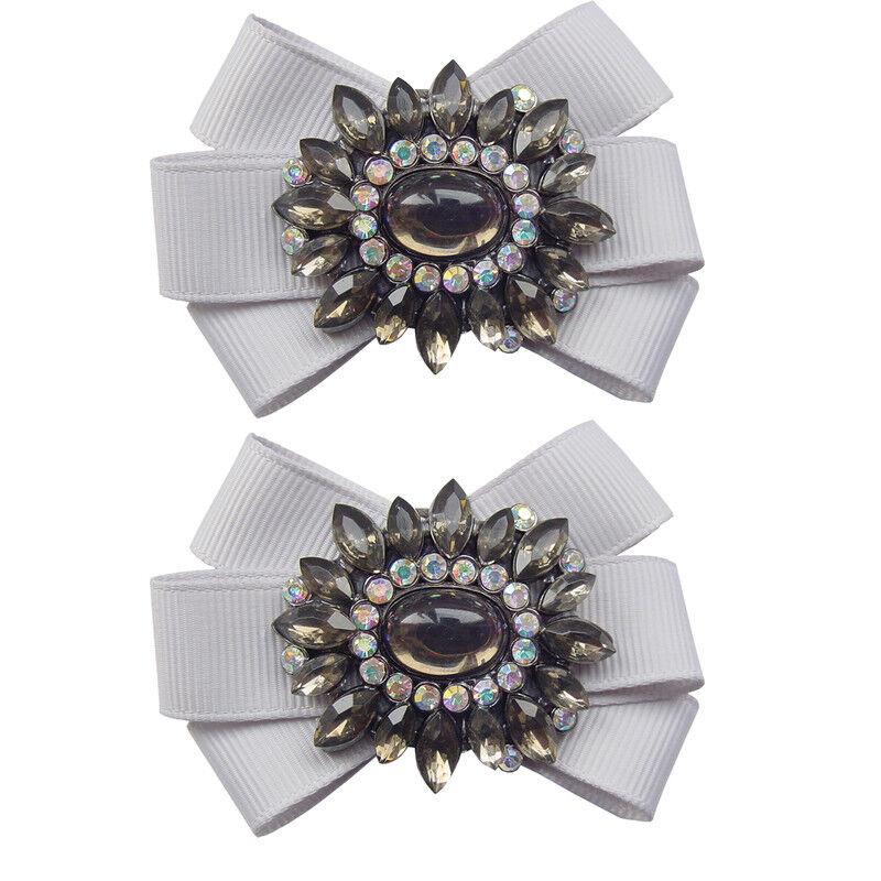 Shoelery Cinders Silver (pair) - Shoe Clips by Erica Giuliani