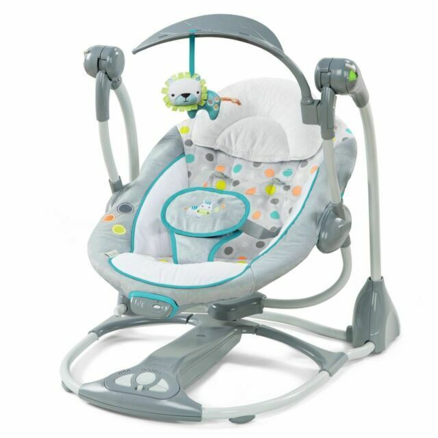 Ingenuity Convertme 2 Seat Portable Baby Swing Gray 10215 3 W11 For Sale Online Ebay