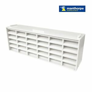 "5 x White Interlocking Air Brick Vents 9"" x 3"" Grille for Air Flow Ventilation 714131627387"