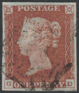 1841-SG8-1d-RED-BROWN-PLATE-38-VERY-FINE-USED-4-MARGIN-MALTESE-CROSS-GD