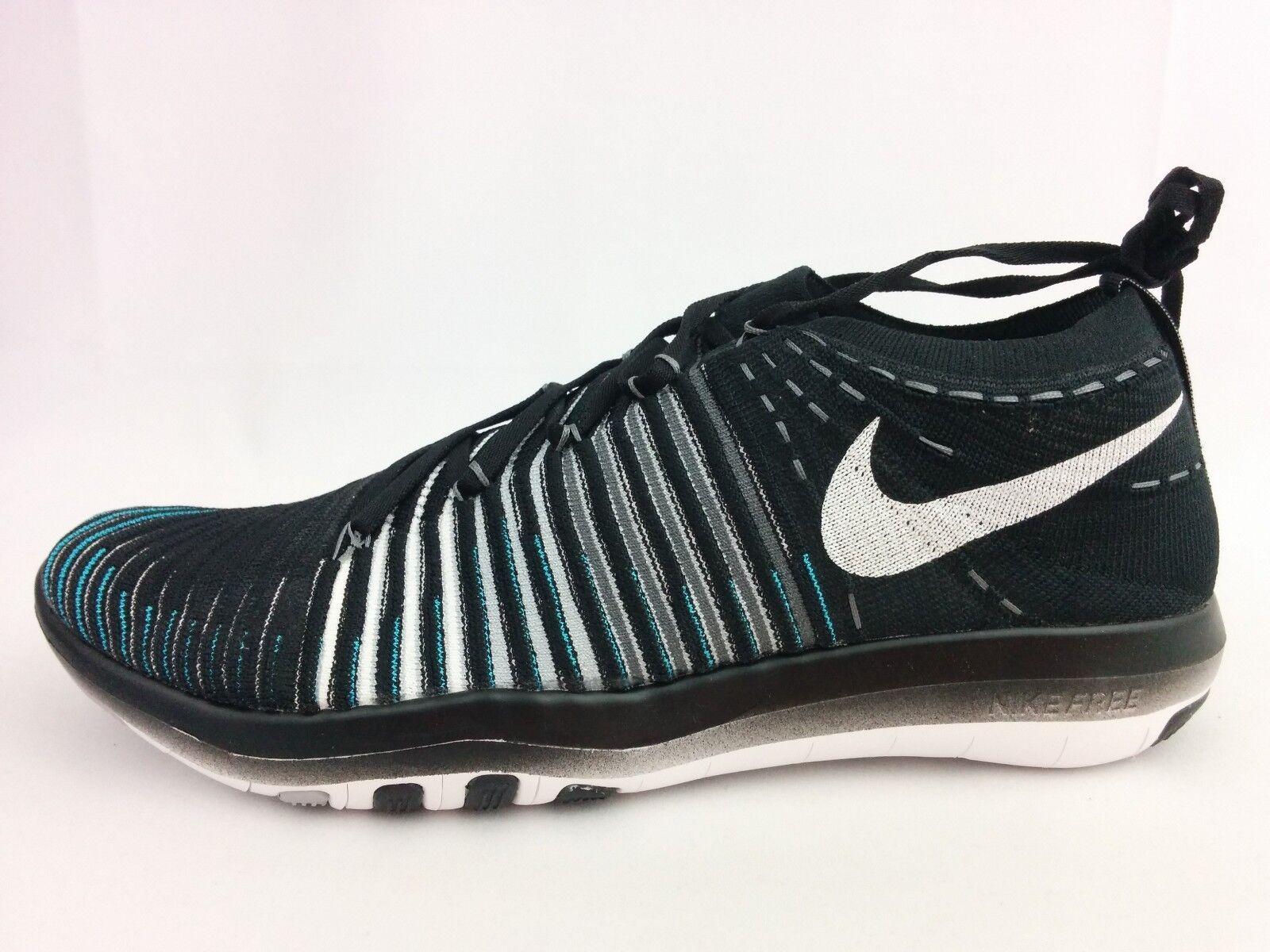 Women's Nike Free Transform Flyknit Training Black White Wolf Grey (833410 001)