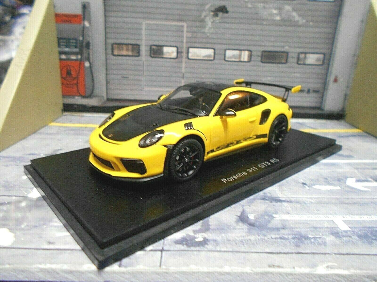 Porsche 911 991 Facelift gt3 RS Weissach package 2018 giallo resin Spark 1 43
