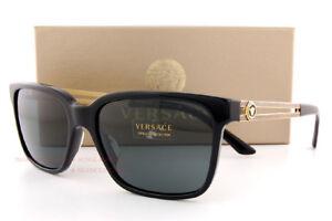 9143222413 Brand New VERSACE Sunglasses VE 4307 GB1 87 BLACK GRAY for Men