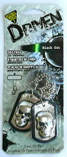 """""""SKULL DOG TAGS"""" DRIVEN by Refresh Your Car! Black Out Air Freshener 16180 >NEW<"""