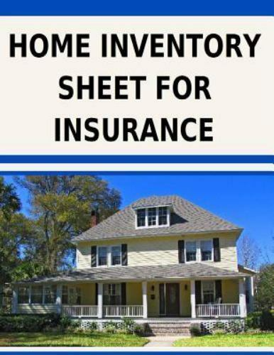 Home Inventory Sheet for Insurance : Fill in the Blank ...