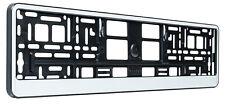 white number plate surround frame holder