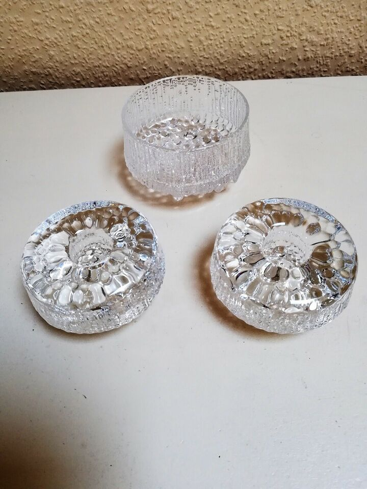 Glas, Lysestager, Iittala