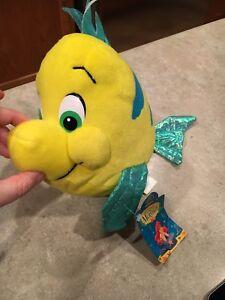 Zabawki z filmów i seriali Flounder Beanbag Plush Little Mermaid Brand New Applause