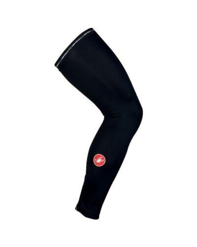 Details about  /Castelli Upf 50 Black Light Leg Warmers Cycling