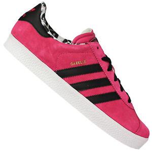Détails sur Adidas Originals Gazelle Femme Fille Baskets en Cuir Chaussures de Sport Rose