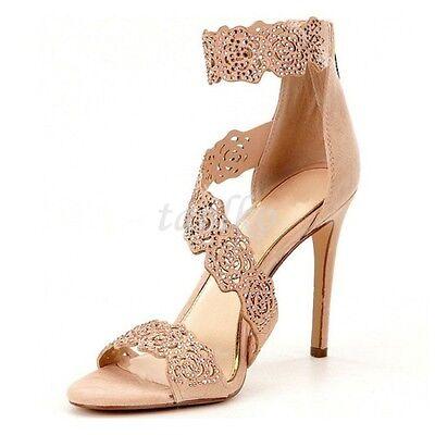 womens high heels back zippers open toe summer pumps