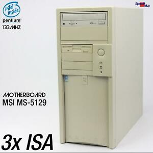 3x-Isa-Ranura-MSI-MS-5129-Computadora-PC-RS-232-Paralelo-Windows-95-98-USB-Sound